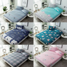Animal Pattern Deep Pocket Bedroom Sheets Fitted Bed Sheets Cotton Fabric Decor