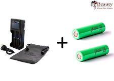 XTAR VC2 Pantalla LCD USB Cargador De Batería con SAMSUNG 18650 Batería 2500mAh X 2