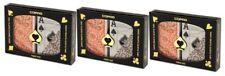 3PK COPAG Plastic Playing Cards Poker Size Jumbo Index Orange Brown NEW FREE CUT
