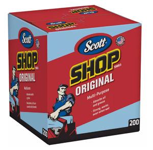 "Scott Shop Towels for Pop-Up Dispenser Box, Blue, 10"" x 12"" (1 box, 200 sheets)"