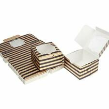 Aekopwera 50 Pack Black Bakery Boxes With Window 4x4x25 Inches Pastry Boxes