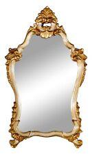 Italian Rococo Style Parcel Giltwood Wall Hanging Mirror