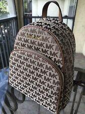 Michael Kors Women Medium Jacquard Leather Backpack Shoulder School Bag Satchel