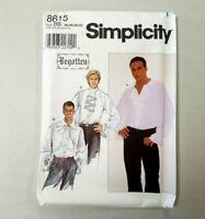 Vtg Simplicity Sewing Pattern 8615 Mens Begotten Poet's Shirt Size Sz 38-44 AA
