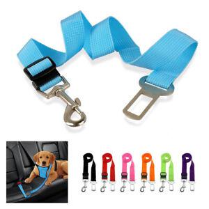 Nylon Dog Car Safety Seat Belt Pet Travel Vehicle Harness Lead Clip Adjustable
