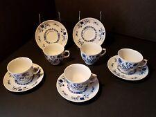 Christina Dresden Classics ~Blue onion ~ Cup/saucer ~ Seltmann Weiden ~ SET OF 5