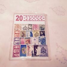 Vintage Vatican 20 Stamp Collection with postcard of Spanish Steps -1960s *RARE*