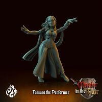 TAMARA THE PERFORMER  SCALE 32mm ZOMBICIDE DnD ROL WARHAMMER SKYRMISH
