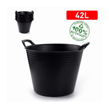 42L FLEXI TUB BUCKET PLASTIC FLEXIBLE TUBS STORAGE CONTAINER FEED TRUG UK