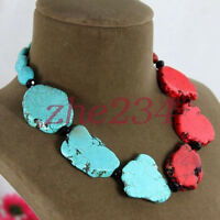 Charm Special Turquoise Slice Handmade Princess Necklace Woman Gift Party