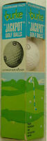 SLEEVE OF 4 UNSUSED BURKE JACKPOT GOLF BALLS-GAME FOR A FOURSOME CIRCA 1970'S