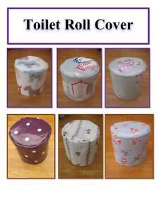 Toilet Roll Cover - Oil Cloth & PVC - Toilet Accessories - Gift Idea