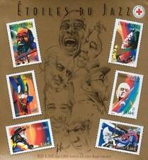 STAMP / TIMBRE FRANCE NEUF BLOC N° 50 ** CELEBRITES GRANDS INTERPRETES DE JAZZ