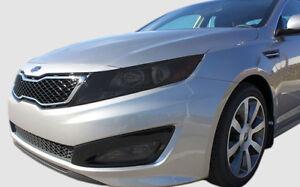 FITS: 11-13 Kia Optima smoked pre cut headlight + fogs tint cover vinyl overlays
