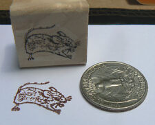 P24 Mouse miniature rubber stamp WM