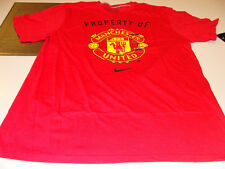 Tean Manchester United 2011-12 Crest Porperty of Tee Shirt Soccer Red M