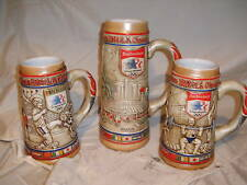 1984 BUDWEISER OLYMPIC BEER STEINS THE COMPLET SET