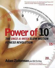 POWER OF 10 by Adam Zickerman FREE SHIPPING paperback book TEN fitness get fit!