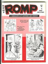 ROMP 11/1961, rare US Humorama sleaze gga digest mag, 10 BILL WARD cartoons