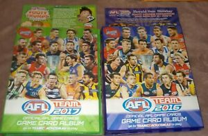2016 & 2017 AFL Teamcoach Albums, excellent condition. & 50 bonus common cards
