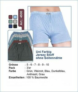BoxerShort Unterwäsche mit Eingriff  3 Stück für 1 Preis Größe 5,6,7,8,9,10