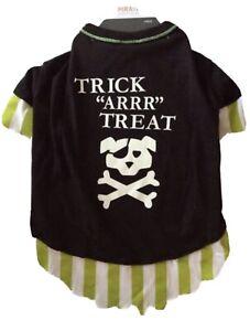 Glow Pirate Halloween Dog Tee Pet Dog Halloween Costume - Size L - Large - T9