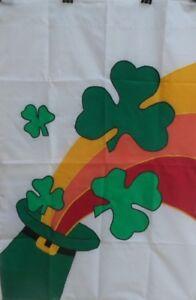 "Rainbow Shamrock St. Pat's Hat Standard House Flag by CBK, 28"" x 40"""