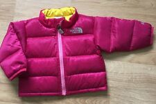 The North Face 550 Down Coat Baby Toddler Size Size 3-6 Months Pink Yellow