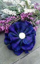 Scottish Tartan Brooch spirit of Scotland fabric flower