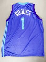 Muggsy Bogues Signed Autographed Basketball Charlotte Hornets Jersey JSA COA