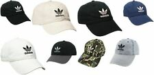 adidas Men's Originals Relaxed Strap Back Cap Hat Trefoil Black Blue Camo Denim