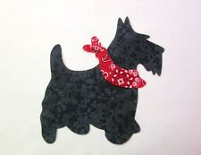 Large Scottie Terrier Dog Iron-on Cotton Fabric Appliques Quilting & Apparel