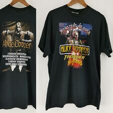 Vintage Monsters of Rock Alice Cooper Descent into Dragontown Band T Shirt XL