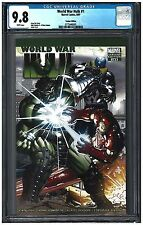 World War Hulk #1 Cgc 9.8 (8/07) Marvel Comics Variant cover white pages