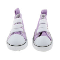 Purple Round Toe High-top Canvas Sneakers Shoes for 1/6 BJD Doll Clothes