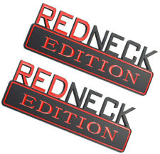 2X Redneck Edition Emblem Truck Badge Logo Sign Car Ornament Red Black Sticker