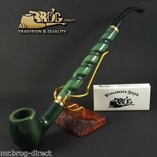 "Mr.Brog original LONG smoking pipe nr.15 green ""Bent Albert "" Hand made in EU"