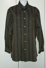 Lacoste mens striped shirt size S-M 39 original hardly worn black multi coloured