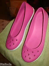 MARY JANE PINK CROCS SIZE W-8 NWOT