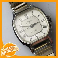 LUCH Soviet Russian USSR CCCP Women's Womens Mechanical Wind up Watch Wristwatch