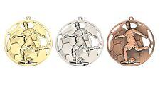 50 TOP Fußball Medaillen Ø 50mm Halsband & Beschriftung, Soccer Jugend Turnier