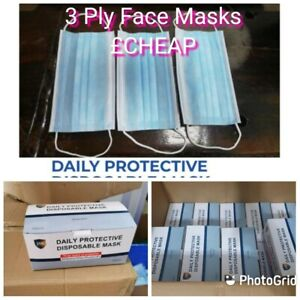 Wholesale 2000 X Blue mask dust beauty quality large 3 soft ear loops ply 40x 50