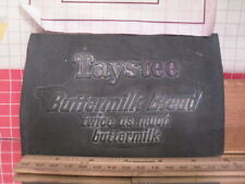 Flexographic Printing Plate Rubber Stamp - Taystee Buttermilk Bread