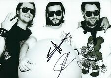 12x8 PHOTO HAND SIGNED By SWEDISH HOUSE MAFIA AXWELL STEVE ANGELLO SEB INFROSSO