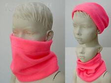 Infant scarf snood Neck chaud bébé Girls Neon Fluorescent Pink Hivis Safety