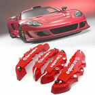 4pc Car Disc Brake Caliper Covers Front & Rear Kit 3D Style Red Universal