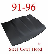 "91 96 Chevy Impala 2"" Cowl Hood, Steel, Bolt On With Latch, Fits Caprice Too!"