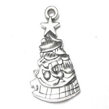 10 pieces 14x26mm Tibetan Silver Christmas Tree Alloy Charm Pendants - A2335