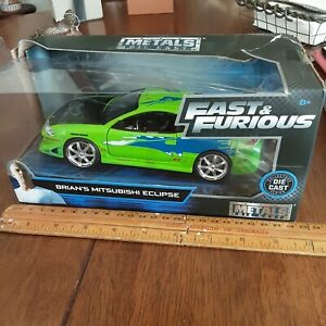 Fast & the Furious Brian's Mitsubishi Eclipse Die-Cast Metal Vehicle collectable