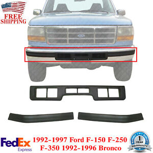 Front Bumper Molding Center + Molding Pad For 92-96 Bronco / 92-97 Ford 150-350